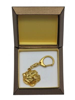 Norfolk Terrier - keyring (gold plating) - 2458 - 27329