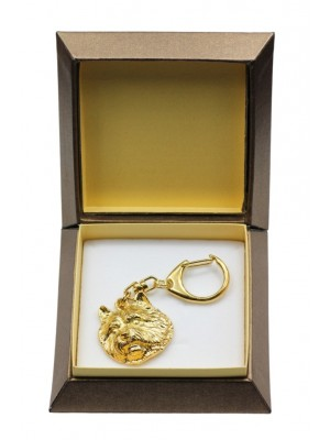 Norwich Terrier - keyring (gold plating) - 2891 - 30564