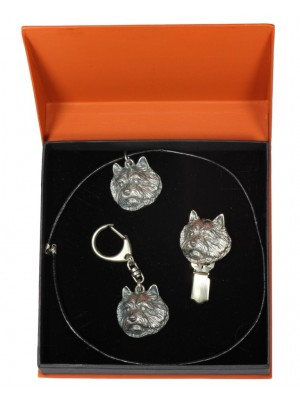 Norwich Terrier - keyring (silver plate) - 2279 - 23543