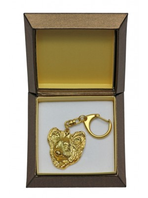 Papillon - keyring (gold plating) - 2449 - 27320