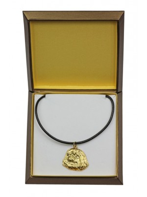 Pekingese - necklace (gold plating) - 2516 - 27675