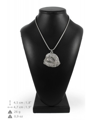 Pekingese - necklace (silver cord) - 3229 - 33352