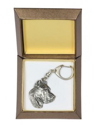 Perro de Presa Canario - keyring (silver plate) - 2784 - 29904