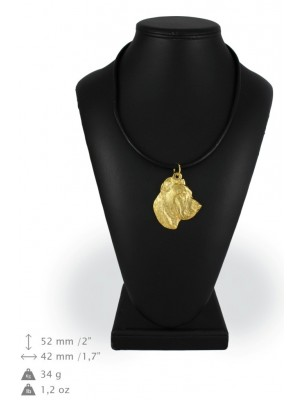 Perro de Presa Canario - necklace (gold plating) - 977 - 25492