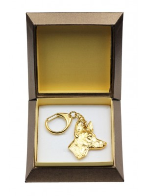 Pharaoh Hound - keyring (gold plating) - 2874 - 30540