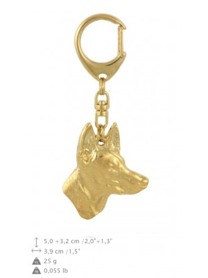 Pharaoh Hound - keyring (gold plating) - 858 - 30075