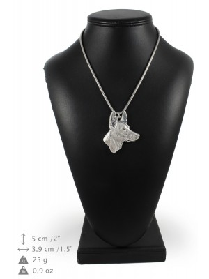 Pharaoh Hound - necklace (silver chain) - 3338 - 34486