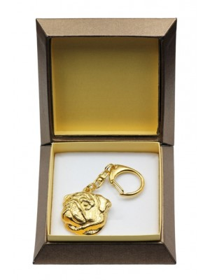 Pug - keyring (gold plating) - 2893 - 30556