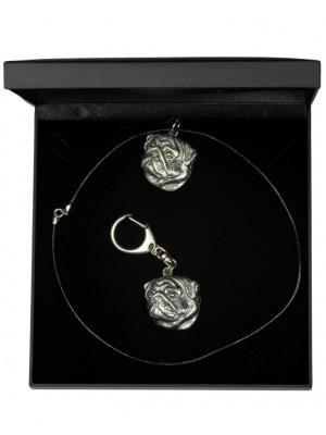 Pug - keyring (silver plate) - 1829 - 12360