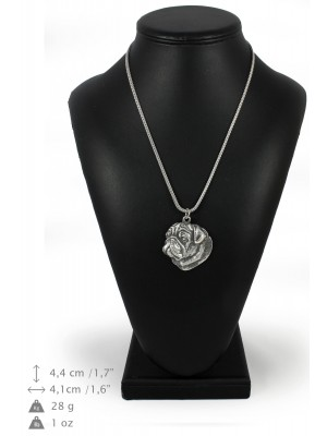 Pug - necklace (silver chain) - 3261 - 34198