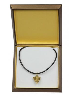 Rottweiler - necklace (gold plating) - 2522 - 27681