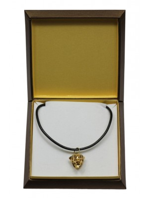Rottweiler - necklace (gold plating) - 3070 - 31706