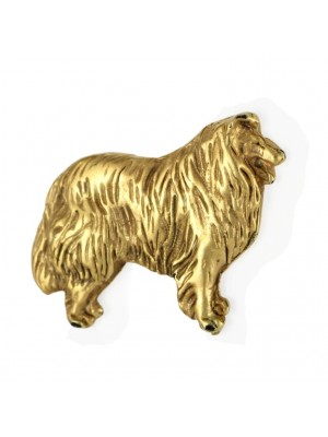 Rough Collie - pin (gold plating) - 2387 - 26164