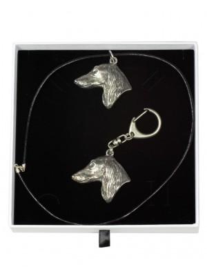 Saluki - keyring (silver plate) - 1874 - 13078