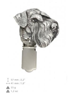 Schnauzer - clip (silver plate) - 1616 - 26540