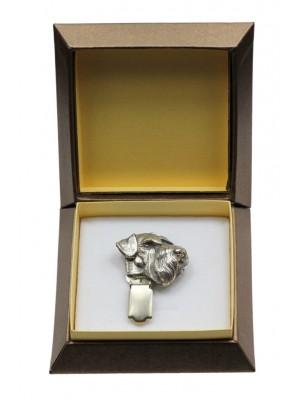 Schnauzer - clip (silver plate) - 2581 - 28162