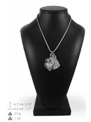 Schnauzer - necklace (silver cord) - 3195 - 33207
