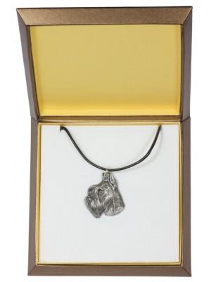 Schnauzer - necklace (silver plate) - 2950 - 31094