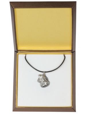 Schnauzer - necklace (silver plate) - 2999 - 31142