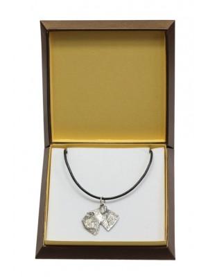 Schnauzer - necklace (silver plate) - 3007 - 31156