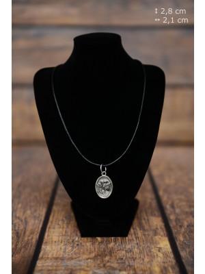 Schnauzer - necklace (silver plate) - 3404 - 34804
