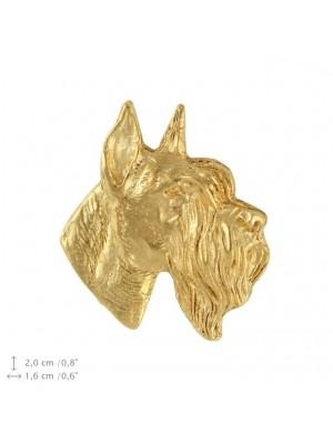 Schnauzer - pin (gold plating) - 2377 - 26105