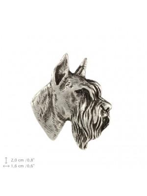 Schnauzer - pin (silver plate) - 2225 - 22289