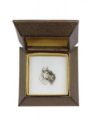 Schnauzer - pin (silver plate) - 2678 - 28960