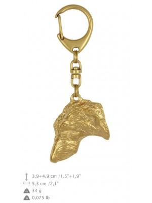 Scottish Deerhound - keyring (gold plating) - 861 - 25247