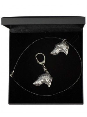 Scottish Deerhound - keyring (silver plate) - 1818 - 12209