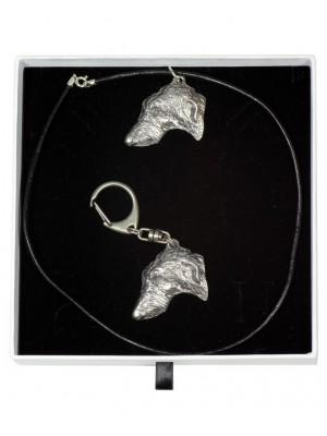 Scottish Deerhound - keyring (silver plate) - 2001 - 15949