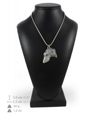 Scottish Deerhound - necklace (silver chain) - 3341 - 34493