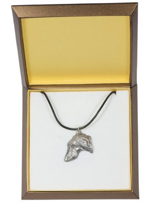 Scottish Deerhound - necklace (silver plate) - 2972 - 31115