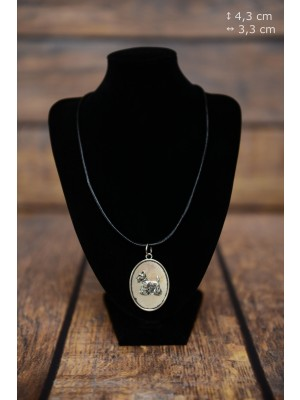 Scottish Terrier - necklace (silver plate) - 3415 - 34828