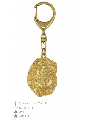 Shar Pei - keyring (gold plating) - 800 - 25057