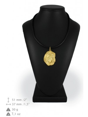 Shar Pei - necklace (gold plating) - 916 - 25343