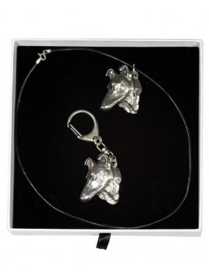 Smooth Collie - keyring (silver plate) - 2004 - 16015