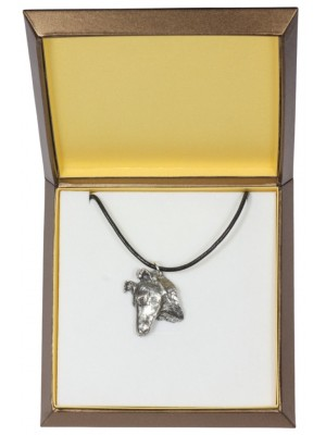 Smooth Collie - necklace (silver plate) - 2975 - 31118
