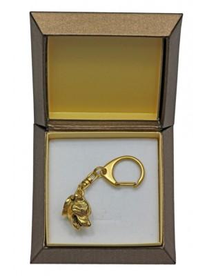 Staffordshire Bull Terrier - keyring (gold plating) - 2455 - 27326