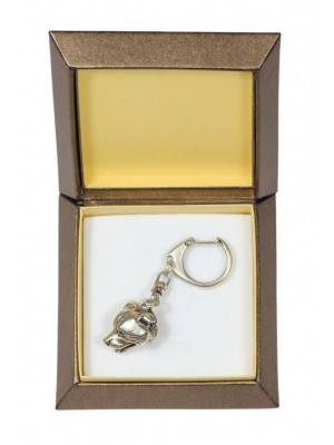 Staffordshire Bull Terrier - keyring (silver plate) - 2761 - 29880