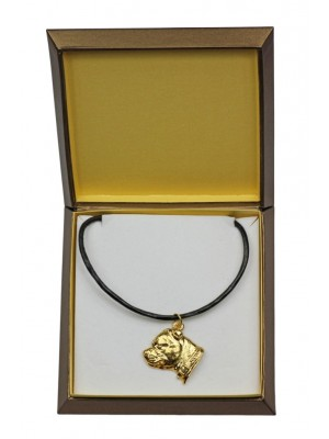 Staffordshire Bull Terrier - necklace (gold plating) - 2489 - 27648