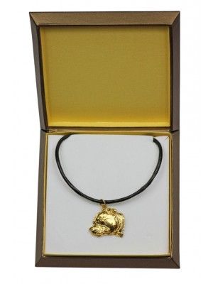 Staffordshire Bull Terrier - necklace (gold plating) - 2529 - 27685