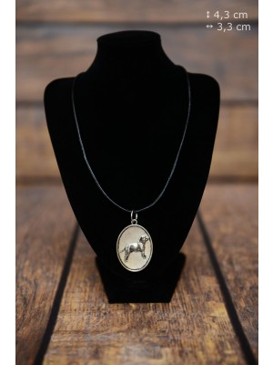 Staffordshire Bull Terrier - necklace (silver plate) - 3429 - 34878