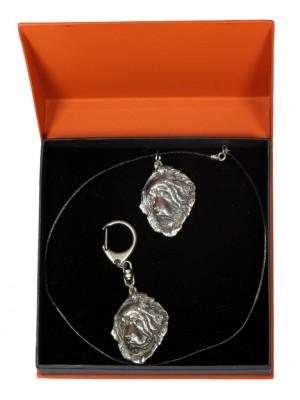 Tibetan Mastiff - keyring (silver plate) - 2213 - 21456