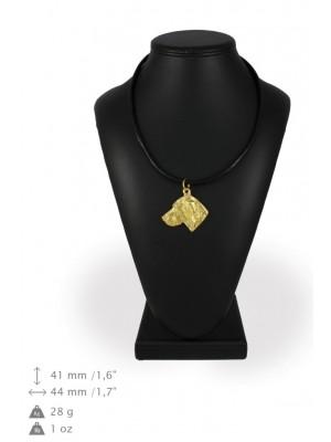 Weimaraner - necklace (gold plating) - 1006 - 31367