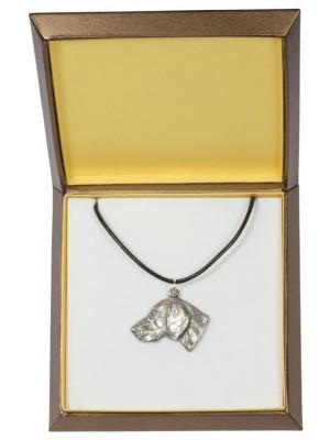 Weimaraner - necklace (silver plate) - 2939 - 31083