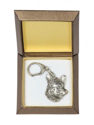 Welsh Corgi Cardigan - keyring (silver plate) - 2781 - 29901