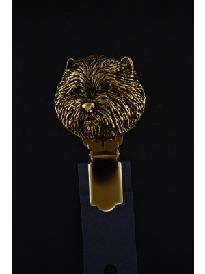 West Highland White Terrier - clip (gold plating) - 1038 - 4571