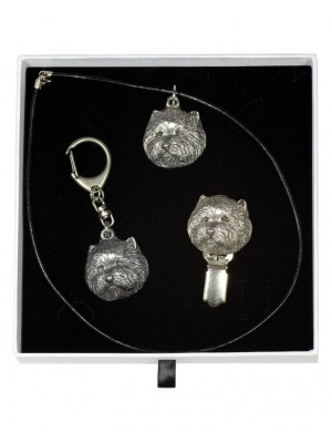 West Highland White Terrier - keyring (silver plate) - 2064 - 17635