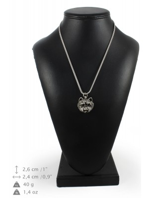 West Highland White Terrier - necklace (silver chain) - 3360 - 34608